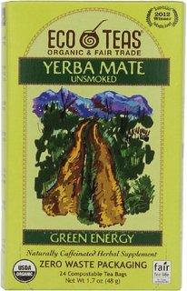 ECOTEAS Organic Yerba Mate Unsmoked Tea 24 Bags